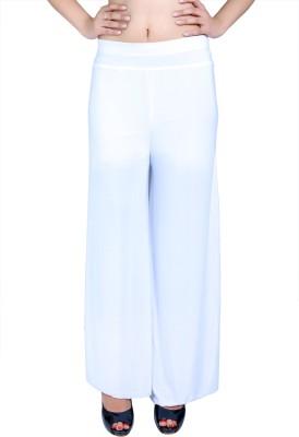 Ajaero Regular Fit Women's White Trousers