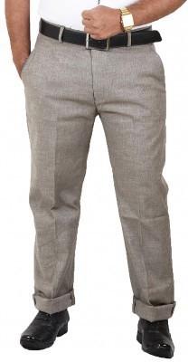 DMARK Slim Fit Men's Green Trousers