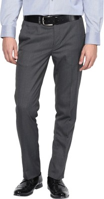 London Bridge Slim Fit Men's Grey Trousers