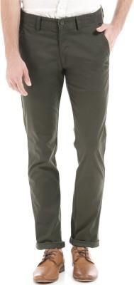 Izod Slim Fit Men's Green Trousers