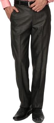 Bellavita Regular Fit Men's Brown Trousers