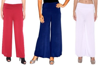 Zadine Regular Fit Women,s Red, Dark Blue, White Trousers