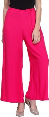 Saffora Fashion Regular Fit Women's Pink Trousers
