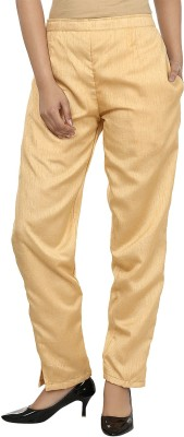 Darshita Regular Fit Women's Beige Trousers