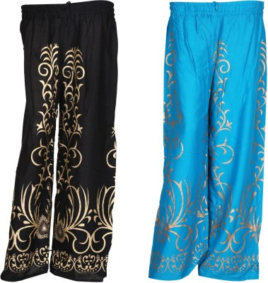 SAANKHYA Regular Fit Women's Black, Blue Trousers