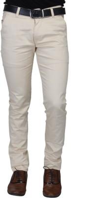 Nimegh Slim Fit Men's Beige Trousers