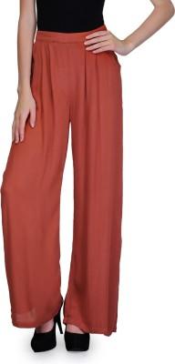 Kiosha Slim Fit Women's Red Trousers