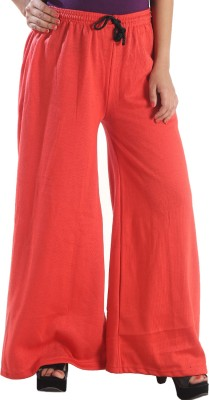 Stay Blessed Regular Fit Women's Orange Trousers