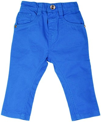 Mom & Me Regular Fit Baby Boy's Blue Trousers