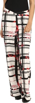 Charisma Regular Fit Women,s Black, White Trousers