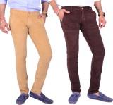 4 Seasons Skinny Fit Men's Beige, Brown ...