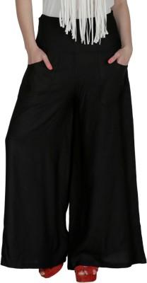 Feyona Regular Fit Women,s Black Trousers