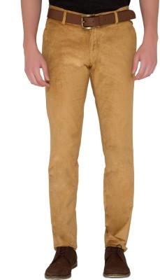 Jadeblue Slim Fit Men's Brown Trousers