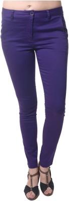 Roadcrack Slim Fit Women,s Purple Trousers