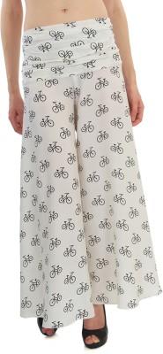 Good Fashion Regular Fit Women's White Trousers
