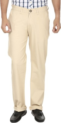 Regale Regular Fit Men's Beige Trousers