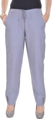 Poopii Regular Fit Women's Grey Trousers