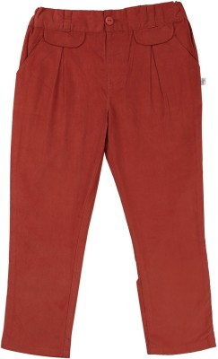 ShopperTree Regular Fit Baby Girl's Orange Trousers