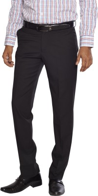 Flags Regular Fit Men's Black Trousers