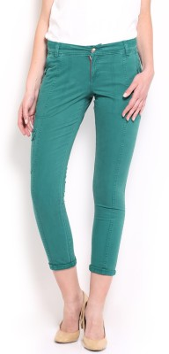 HRX by Hrithik Roshan Skinny Fit Women's Green Trousers at flipkart
