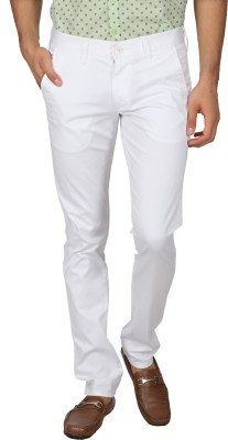 Easies Slim Fit Men's White Trousers