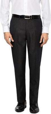 Peter England Slim Fit Men's Black Trousers
