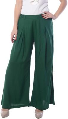 Meira Regular Fit Women's Green Trousers
