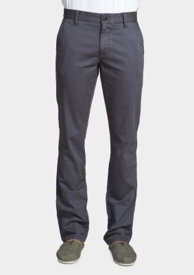 Bhane Slim Fit Men's Grey Trousers