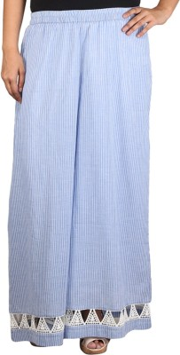 Talinum Regular Fit Women's Blue, White Trousers