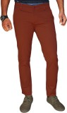 Oiin Slim Fit Men's Red Trousers