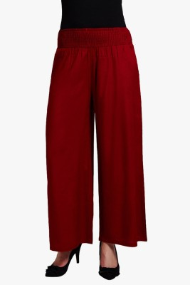 PNY Regular Fit Women's Red Trousers