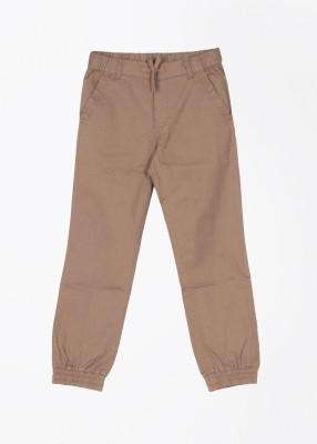 United Colors of Benetton Slim Fit Baby Boy's Brown Trousers