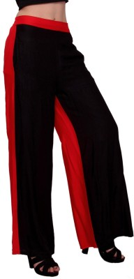 MSONS Regular Fit Women's Black, Red Trousers