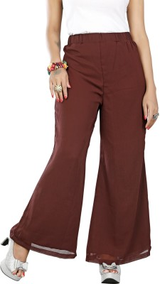 Twinkal Regular Fit, Slim Fit Women's Brown Trousers