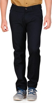 Private Image Slim Fit Men's Blue Trousers