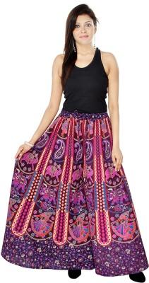Jaipuri Bandhej Regular Fit Women's Purple Trousers