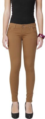 City Girl Regular Fit Women's Beige Trousers