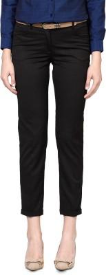 Allen Solly Slim Fit Women,s Black Trousers