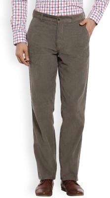 Color Plus Slim Fit Men's Green Trousers