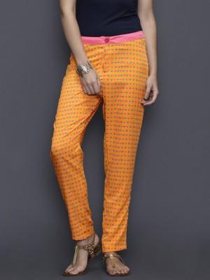 Anouk Regular Fit Women's Orange Trousers