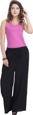 BANNO Regular Fit Women's Black Trousers