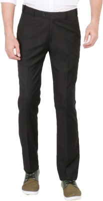Easies Slim Fit Men's Black Trousers