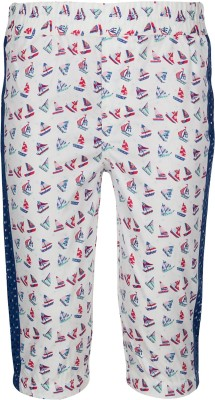 Tickles By Inmark Slim Fit Girl's White Trousers