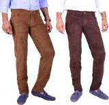 4 Seasons Skinny Fit Men's Brown, Brown ...