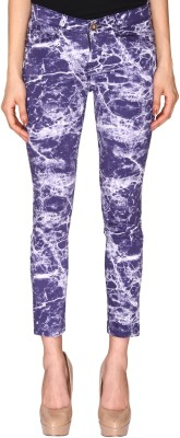 Azores Slim Fit Women's Blue Trousers