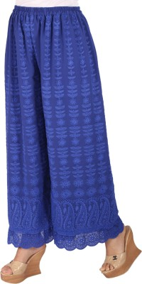 Ayesha Creations Regular Fit Women's Dark Blue Trousers