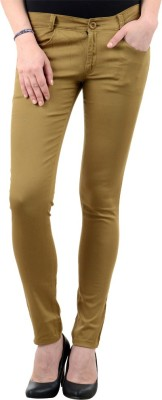iHeart Skinny Fit Women's Brown Trousers