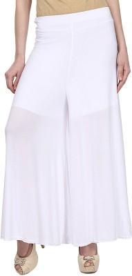Esszee Regular Fit Women's White Trousers