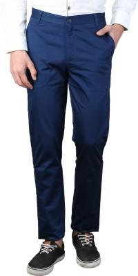 MAGNOGUY Slim Fit Men's Blue Trousers