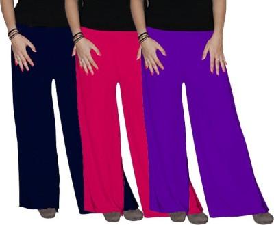 Ace Regular Fit Women's Pink, Purple, Blue Trousers